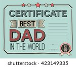 template diploma... | Shutterstock .eps vector #423149335
