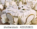 white and gold colored chairs | Shutterstock . vector #423152821