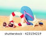 beach. | Shutterstock . vector #423154219