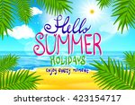 hello summer. poster on... | Shutterstock .eps vector #423154717
