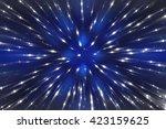 abstract blue fractal... | Shutterstock . vector #423159625