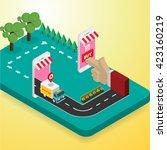 vector concept of online shop | Shutterstock .eps vector #423160219
