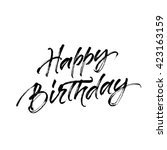 happy birthday inscription with ... | Shutterstock .eps vector #423163159