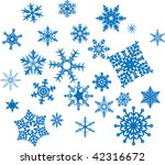 set of vector snowflakes on a... | Shutterstock .eps vector #42316672