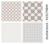 monochrome elegant seamless... | Shutterstock . vector #423174844
