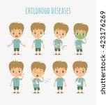 vector illustration of children'... | Shutterstock .eps vector #423176269