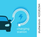 power vector design  electric... | Shutterstock .eps vector #423181564
