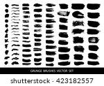 set of black paint  ink brush...   Shutterstock .eps vector #423182557