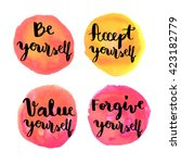 be yourself hand lettering... | Shutterstock .eps vector #423182779