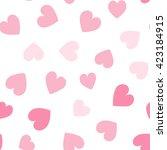 seamless hearts pattern. vector ... | Shutterstock .eps vector #423184915