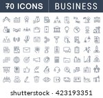 set vector line icons with open ... | Shutterstock .eps vector #423193351