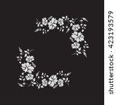 flower frame illustration... | Shutterstock . vector #423193579