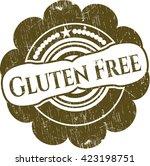 gluten free rubber grunge seal | Shutterstock .eps vector #423198751