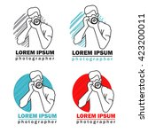 modern vector photographer... | Shutterstock .eps vector #423200011