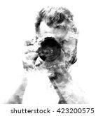 double exposure male...   Shutterstock . vector #423200575