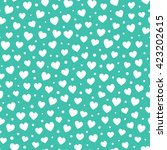 seamless hearts and dots... | Shutterstock .eps vector #423202615