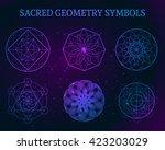 sacred geometry symbols set.... | Shutterstock .eps vector #423203029