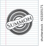summon with pencil strokes | Shutterstock .eps vector #423205171