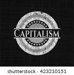 capitalism written with... | Shutterstock .eps vector #423210151
