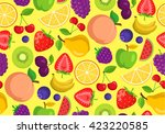 vegetables and fruits. seamless ... | Shutterstock .eps vector #423220585