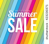 summer sale on colorful striped ... | Shutterstock .eps vector #423230371