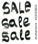 sale sign  ink hand lettering.... | Shutterstock . vector #423233821
