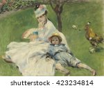 Madame Monet And Her Son  By...