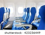 empty aircraft seats and... | Shutterstock . vector #423236449