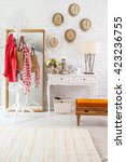 modern brick wall winter style | Shutterstock . vector #423236755