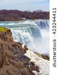 Small photo of Niagara Falls from an American side. A view on American Falls and Bridal Veil Falls