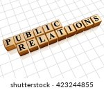 public relations   text in... | Shutterstock . vector #423244855