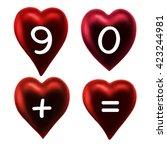 alphabet red heart. valentine... | Shutterstock . vector #423244981