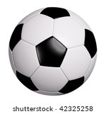 leather soccer ball isolated on ... | Shutterstock . vector #42325258