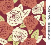 valentine seamless pattern with ... | Shutterstock .eps vector #42325642