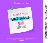 sale sticker  paper design. | Shutterstock .eps vector #423257989