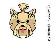 vector. pet. dog. flat. man's... | Shutterstock .eps vector #423259474