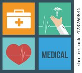 set medical help  colors... | Shutterstock .eps vector #423260845