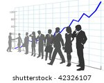 a team of business people in...   Shutterstock .eps vector #42326107