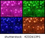 set of four sparkling vector...
