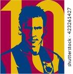 may 20  2016  footballer lionel ... | Shutterstock .eps vector #423261427