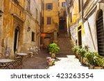 Cozy Street In Rome  Italy