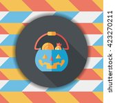 halloween pumpkin shaped box... | Shutterstock .eps vector #423270211