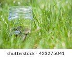 savings jar | Shutterstock . vector #423275041