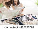 preparation of travel is also...   Shutterstock . vector #423275689