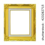 gold picture frame. isolated... | Shutterstock . vector #423282715