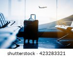 airport interior with flying... | Shutterstock . vector #423283321