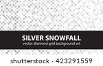 "diamond pattern set ""silver... | Shutterstock .eps vector #423291559"