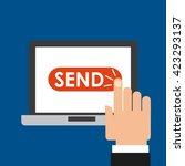 mail marketing design  | Shutterstock .eps vector #423293137