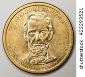 Small photo of US Gold Presidential Dollar Featuring Abraham Lincoln