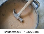 building clay kiln process | Shutterstock . vector #423293581